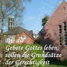 Nr. 534 / Motiv: Blick von Friedhof auf die Kirche St. Petrus in Hamburg-Finkenwerder