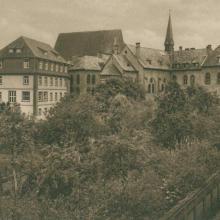 Ansicht Mutterhaus vom Garten (vor 1945)